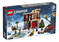 LEGO Creator Expert 10263 Brandweerkazerne in winterdorp-Linkerzijde