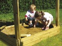 BnB Wood zandbak voor Nieuwpoort