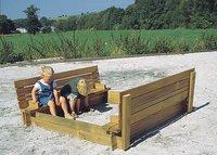 Forest-Style zandbak Combi met zitdeksel 150 cm-Afbeelding 2
