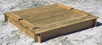 Forest-Style zandbak Combi met zitdeksel 150 cm-Vooraanzicht