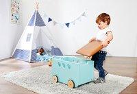 Pinolino coffre à jouets sur roulettes Jim menthe-Image 1