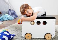 Pinolino coffre à jouets sur roulettes Jim blanc-Image 1