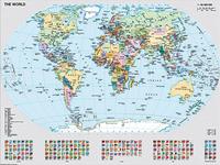 Ravensburger puzzel Staatkundige wereldkaart-Vooraanzicht