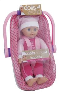 Dolls World zachte pop Isabella met draagstoeltje-Linkerzijde
