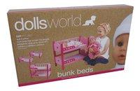 Dolls World houten stapelbed voor pop-Linkerzijde