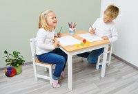 Pinolino table avec 2 chaises pour enfants Fenna blanc-Image 1