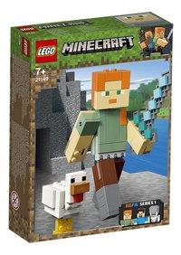 LEGO Minecraft 21149 BigFig Alex met kip-Linkerzijde