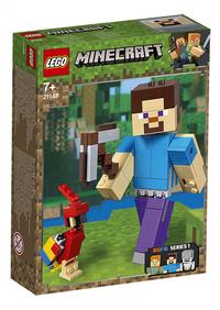 LEGO Minecraft 21148 BigFig Steve met papegaai-Linkerzijde