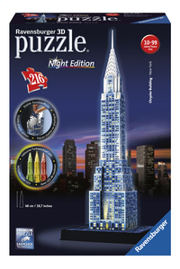 Ravensburger 3D-puzzel Chrysler Building Night Edition-Vooraanzicht