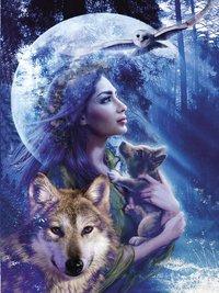 Ravensburger puzzle Entre femme et loup-Avant