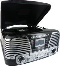 bigben radio/cd-speler/platenspeler TD79NM Nostalgia zwart