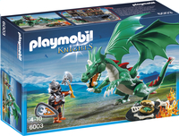 Playmobil Knights 6003 Chevalier avec grand dragon vert