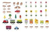 Houten speeltafel met treinset-Artikeldetail
