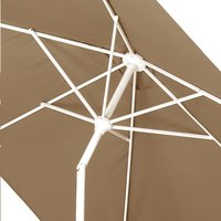 Aluminium parasol 2 x 3 m taupe-Artikeldetail