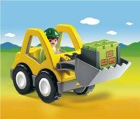 Playmobil 1.2.3 6775 Excavatrice et ouvrier -Avant
