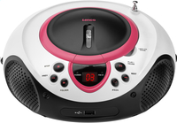 Lenco radio/lecteur CD portable SCD-38 rose