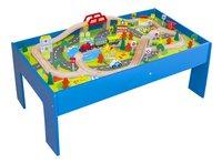 Houten speeltafel met treinset-Linkerzijde