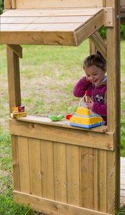 BnB Wood portique avec tour de jeu Nieuwpoort + magasin Shop et toboggan jaune-Détail de l'article