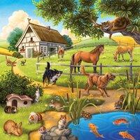 Ravensburger puzzle 3 en 1 Animaux-Avant