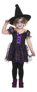 Verkleedpak heks paars en zwart