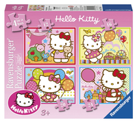 Ravensburger meegroeipuzzel 4-in-1 Hello Kitty