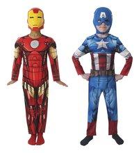 Déguisement réversible Avengers Iron Man/Captain America taille 98/104