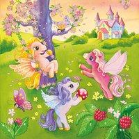 Ravensburger 3-in-1 puzzel Pony's in sprookjesland-Vooraanzicht