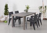 Keter Allibert table de jardin Futura cappuccino 165 x 94 cm-Image 1