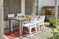 Allibert table de jardin Futura cappuccino 165 x 94 cm-Image 4