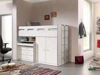 Vipack lit mi-hauteur/bureau Bonny blanc-Image 1