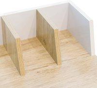 Bureau Basic blanc et bois-Détail de l'article