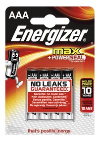 Energizer Max pile AAA - 4 pièces