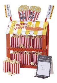 Traktatiestand Hotdogs/Popcorn-commercieel beeld