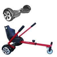 Symex Balance Board Balance Scooter carbon + Seatkart rood