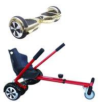 Symex Balance Board Balance Scooter goud + Seatkart rood