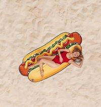 BigMouth handdoek Hot Dog Beach Blanket B 94 x L 216 cm-commercieel beeld