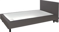 Boxspring Sophie lederlook taupe