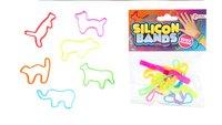 Armband Silicon Bands Pastel - 6 stuks-Artikeldetail