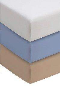 Romanette Hoeslaken blauw double jersey 90 x 200 cm-Afbeelding 1