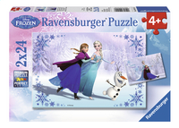 Ravensburger puzzel 2-in-1 Disney Frozen Zussen voor altijd