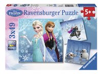 Ravensburger puzzel 3-in-1 Disney Frozen Avontuur in winterland