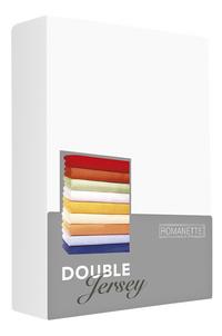 Romanette Hoeslaken wit double jersey 90 x 200 cm-Vooraanzicht