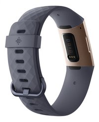 Fitbit capteur d'activité Charge 3 HR or rose/bleu ardoise-Arrière