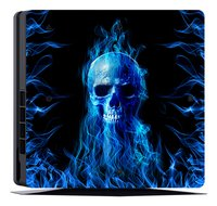 PS4 Slim console skin + 2 controllers skins Fire Skull-Artikeldetail