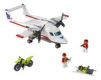 LEGO City 60116 Ambulancevliegtuig-Vooraanzicht