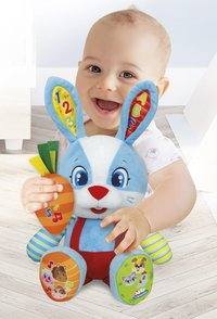 baby Clementoni peluche interactive Lillo the Rabbit bilingue FR/NL-Image 1