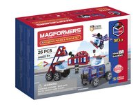 Magformers Amazing Police & Rescue Set 30 in 1-Côté gauche