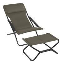 Lafuma Relaxzetel Transabed XL Plus Air Comfort taupe-commercieel beeld