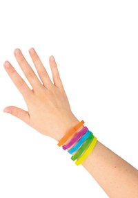 Armband Silicon Bands Pastel - 6 stuks-Afbeelding 1