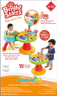 Bright Starts table d'activités Activity Center Zippity Zoo 3-in-1 Around We Go!-Avant